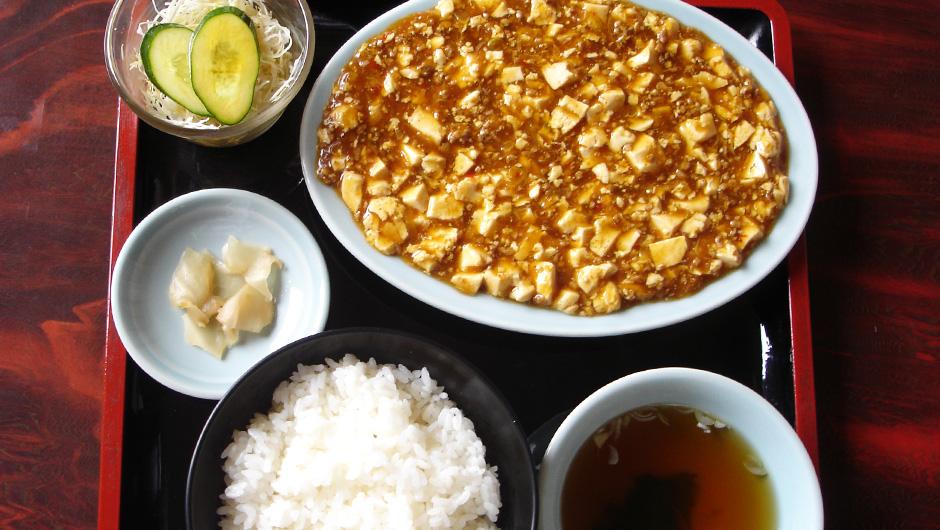 四川麻婆豆腐定食 900円